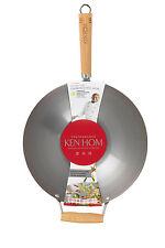 NEW Ken Hom Carbon Steel 31cm Wok