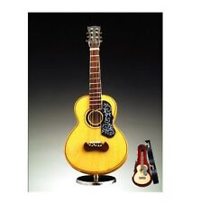 "7"" SPANSIH GUITAR w/ PICK GUARD MUSIC BOX+CASE+STAND ""MY HEART WILL GO ON""-GU18"