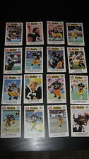 1986 PITTSBURGH STEELERS POLICE GIANT EAGLE 16 CARD SET WEBSTER SHELL STALLWORTH