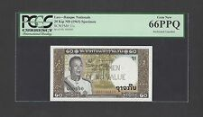 Lao 20 Kip ND(1963) P11s Specimen Perforated Uncirculated
