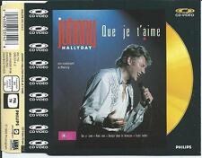 JOHNNY HALLYDAY - Que je t'aime CD VIDEO SINGLE 5TR (PAL) 1988 UK PRINT