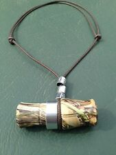 """2.5"""" Acrylic Camo Mini Duck / Goose Call Necklace - Commander Style - Working Du"""