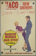 E1608D BUS STOP MARILYN MONROE JOSHUA LOGAN ORIGINAL US WINDOW CARD POSTER