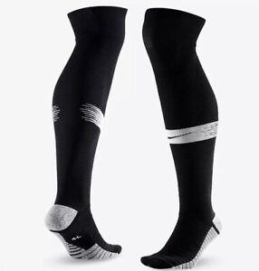 Nike Strike NIKEGRIP Knee High SOCCER Socks Men 4-5.5 Wmn 5.5-7 Black SX6938-011