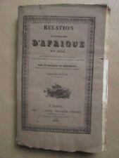 DE BARTILLAT : RELATION DE LA CAMPAGNE D'AFRIQUE en 1830. Envoi de l'auteur.