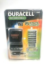 Duracell Battery CHARGER with 6 AA & 2 AAA NiMH Rechargeable Batteries