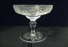 Rare Antique Signed Thomas Webb English Cut Crystal Glass Compote