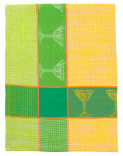 "100% Cotton Green & Yellow 20""x28"" Dishtowel, Set of 3 - Martini Tangello"
