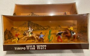 TIMPO WILD WEST BOXED COWBOYS IN SHRINK 1960's  made in Gt Britain