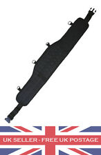 BLACK TACTICAL BATTLE BELT AIRSOFT SECURITY GUARD MOLLE PADDED WEBBING BLACK