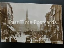 Birmingham BULL RING OPEN MARKET Excellent Animated Scene c1906 RP by Rotary