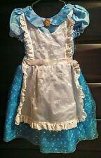 Disney Store Alice in Wonderland Halloween Costume Dress Child Size 7 8