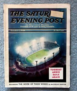 Saturday Evening Post Oct. 1 1938 Cover by Wesley Neff c