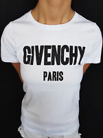 Brand New Women T-Shirt Givenchy Black Logo Ragged Color White ALL Size 2017 TOP