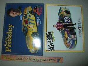 NASCAR ROBERT PRESSLEY postcard photo promo CARTOON NETWORK JASPER Scooby Doo