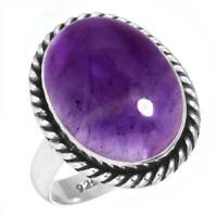 925 Sterling Silver Ring Natural Amethyst Handmade Jewelry Size 7.5 UD35725