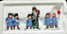 """Dept56 Heritage Village Collection """"Holiday Field Trip"""" Set of 3"""