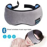 Wireless Sleep Headset Bluetooth 5.0 Stereo Eye Mask Earphone Headphones T4T7