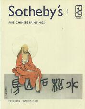 SOTHEBY'S HK CHINESE PAINTINGS Lin Fegmian Qi Baishi Zhang Daqian Catalog 2003