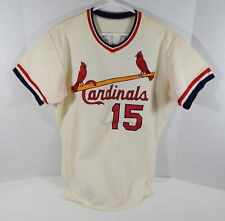 1975-76 St. Louis Cardinals Ron Fairly #15 Game Used White Jersey DP04166
