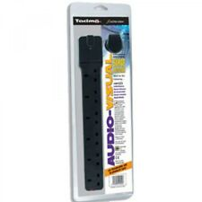 Tacima CS923 6 Way Enhanced Audio Visual Surge Protector Extension Lead - Black