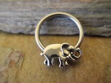 Tragus Cartilage Hoop 16G 14G Elephant Ganesha Surgical Captive Ring Septum