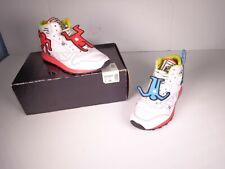 Reebok CL LTHR Mid Lux Keith Haring White Black Techy Red Multi V44585 Size 9