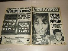 EUROPEO=1952/39=BARBARA LAAGE=NEGUIB=CASSINO=PASQUALE SCIORTINO MONTELEPRE=