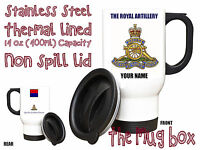 Royal Artillery Personalised Thermal Travel Mug.(MT032)