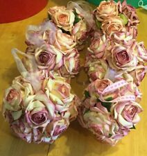 Lot of 6 Purple Pink Flower Kissing Ball Wedding Paper Rose Party Pomander