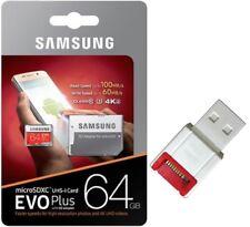 Samsung EVO PLUS 64GB microSD 100MB/s C10 U3 UHS-I 4K microSDXC micro SDXC +R10W