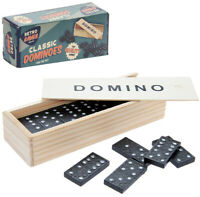 Retro Classic Games Desktop Wooden Dominoes Children and Family Fun