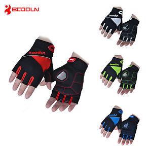 2021 BOODUN Gel Padded Cycling Gloves Unisex Fingerless Bike Cycle MTB Gloves