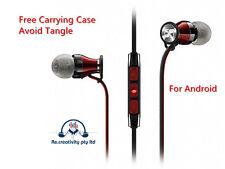 Earphones Sennheiser Mic Remote Momentum M2IEG HD1 In Ear Headphones Red Android