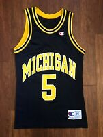 Jalen Rose #5 Vintage Champion Michigan Wolverines Fab 5 NCAA Jersey Size 36 S