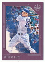ANTHONY RIZZO 2020 DIAMOND KINGS PURPLE BORDER FRAME PARALLEL #89 CUBS