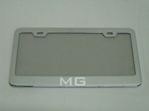 *MG* MGA MGB MIDGET mirror Stainless Steel license plate frame w/s.caps (SB)