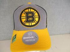 New Boston Bruins Mens Size S/M Gray/Yellow Reebok Cap Hat $25
