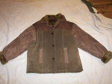 Brandon Thomas Leather Coat - M - Plush Lining and Collar