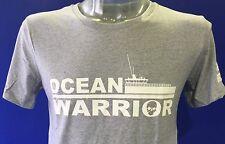 The MV Ocean Warrior Unisex Sea Shepherd T-shirt Grey, EU Sizes not UK sizes