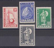 Iceland Sc 213-216 MLH. 1939 New York World's Fair, cplt set, VLH