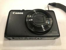 Canon PowerShot S95 10.0MP HD Digital Camera Black with Battery (FOR PARTS ONLY)