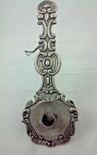 Antique Spanish Silver Chamberstick Candle Holder Palmatoria
