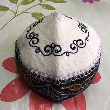 Kyrgyzstan Traditional Handmade Felt Hat Cap Tubeteika Embroydered Unisex E119