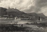 Neversink River Highlands New York Boating Sailing Fishing - 1872 Engraved Print