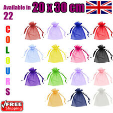 20 x 30 cm Organza Gift Pouch Wedding Favour Bags Jewellery Pouch in 23 Colours!