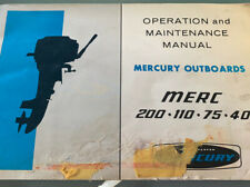 Mercury Outboard Motor Operation Maintenance Merc 200 110 75 40 Manual