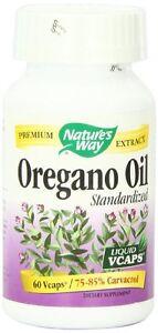 Nature's Way Oregano Oil Standardized Liquid Vcaps, 60 Ct (Pack of 12)