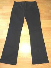 SEVEN FOR ALL MANKIND STRETCH BLACK DENIM BOOTCUT JEANS SIZE 30
