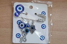 Baby Pin Newborn Evil Eye Boy Girl Gift Jewish Blessing Hamsa Good Luck